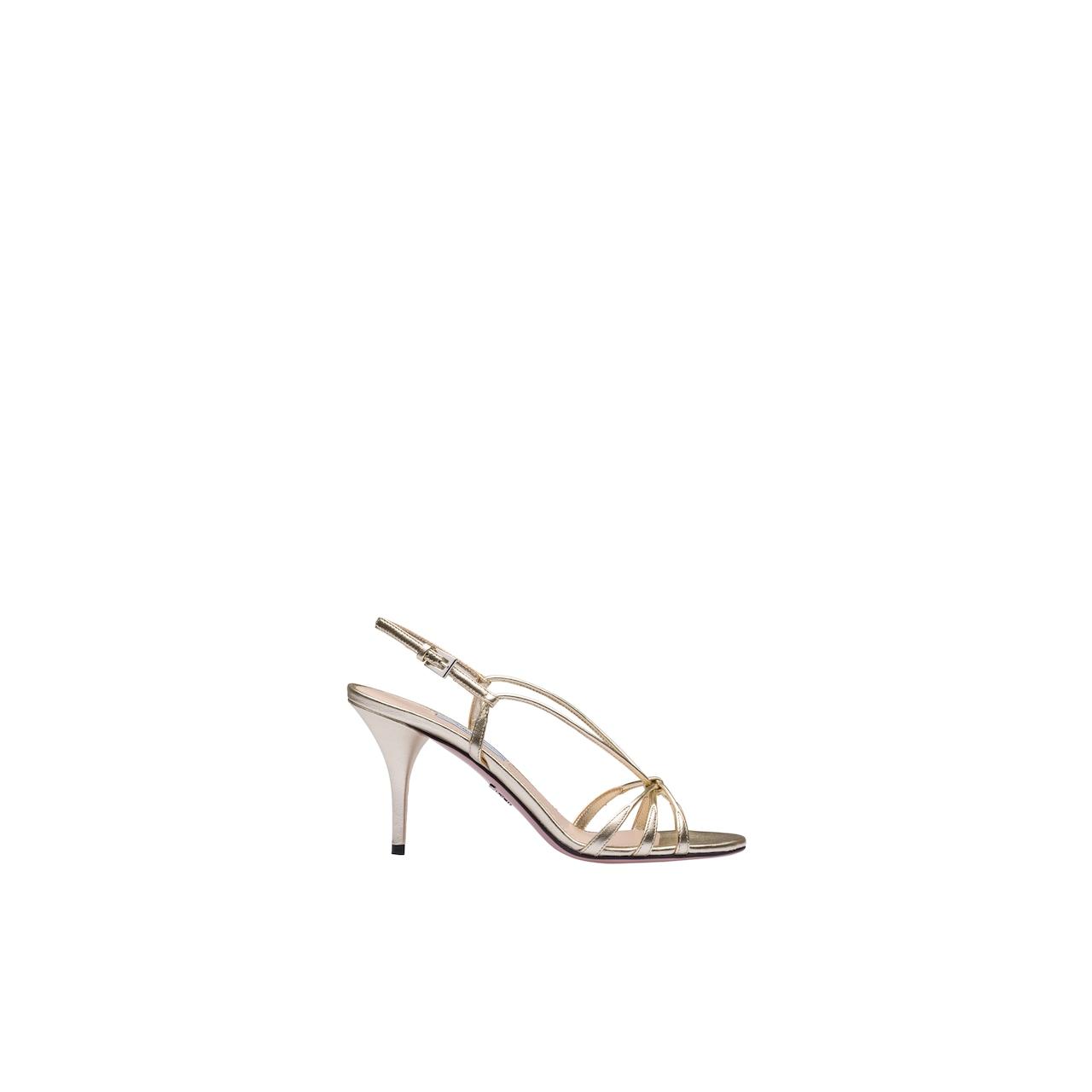 Sandali in pelle metallizzata