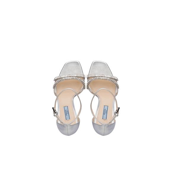 Prada Laminated nappa leather sandals 4