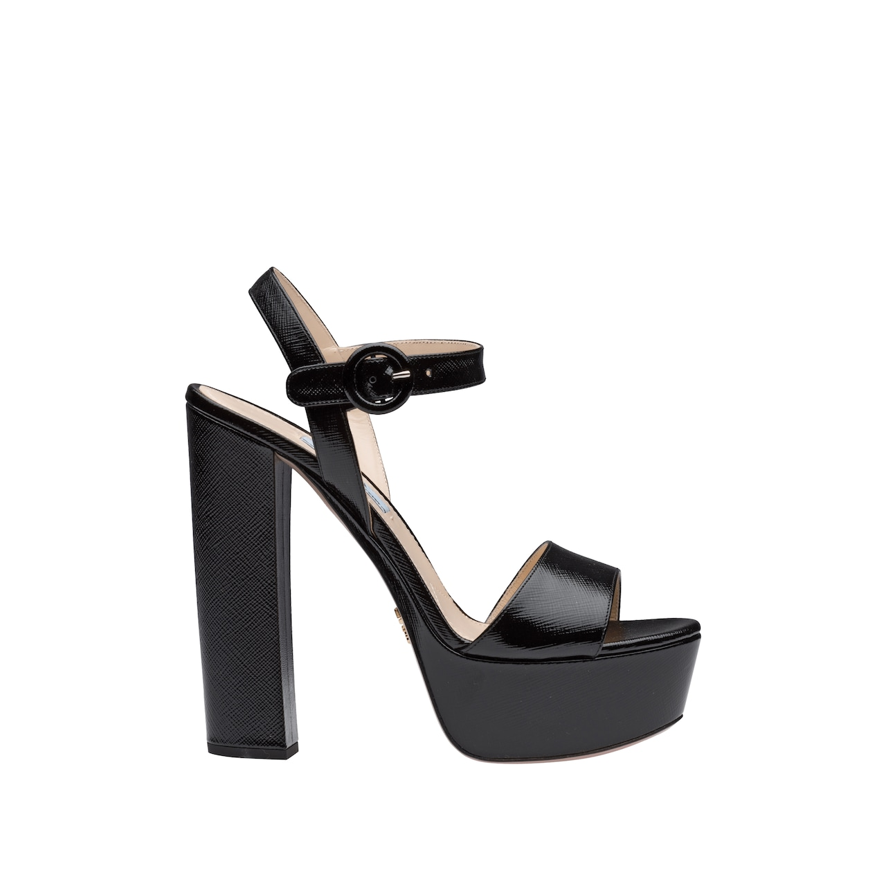 85d18ac618 Laminated Saffiano leather platform sandals | Prada - 1XP13A_053_F0002_F_140