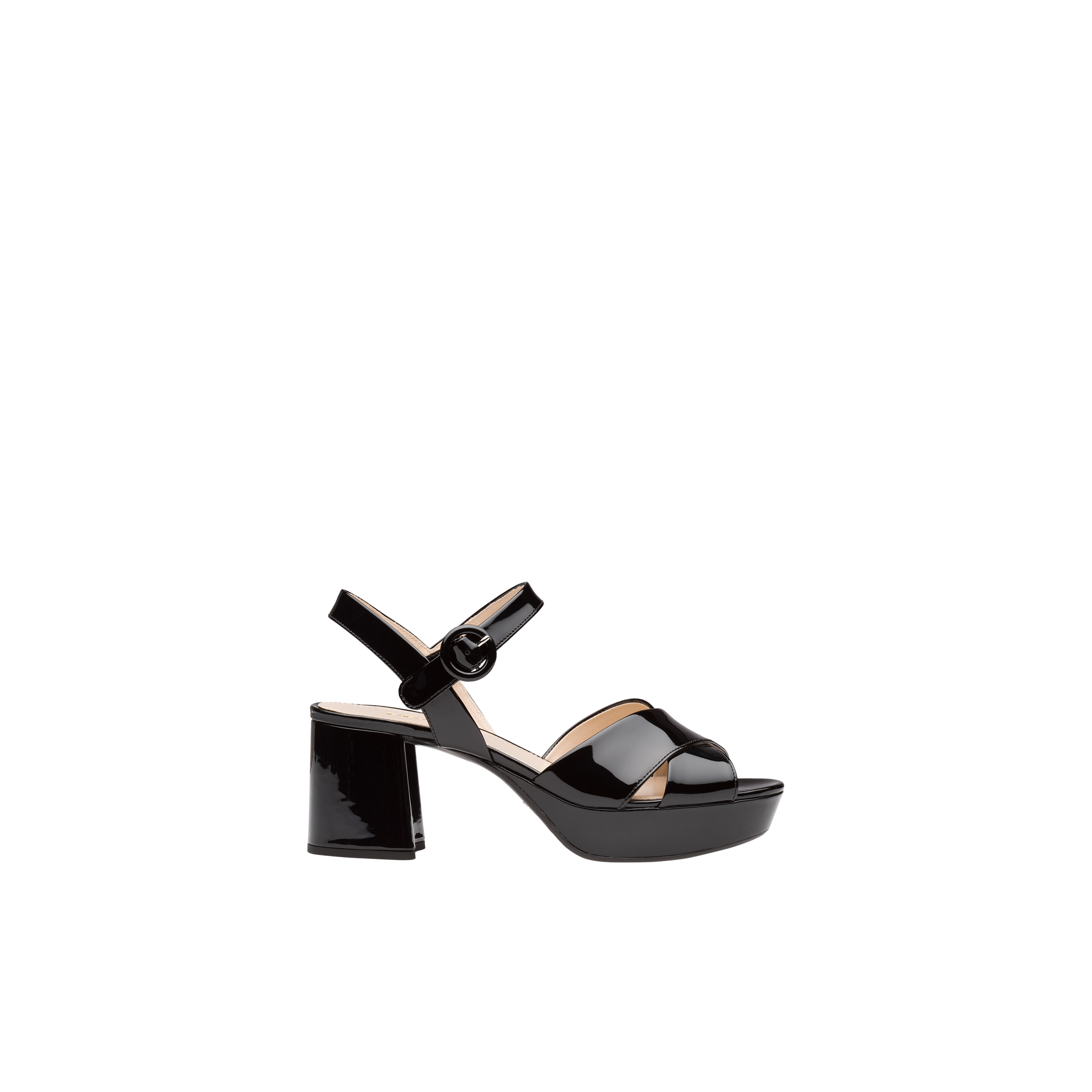 598b7f3c05 Patent leather platform sandals | Prada - 1XP890_069_F0002_F_B065