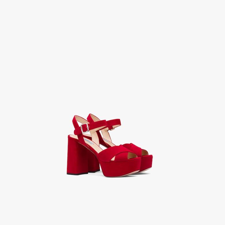Prada Suede platform sandals - Woman