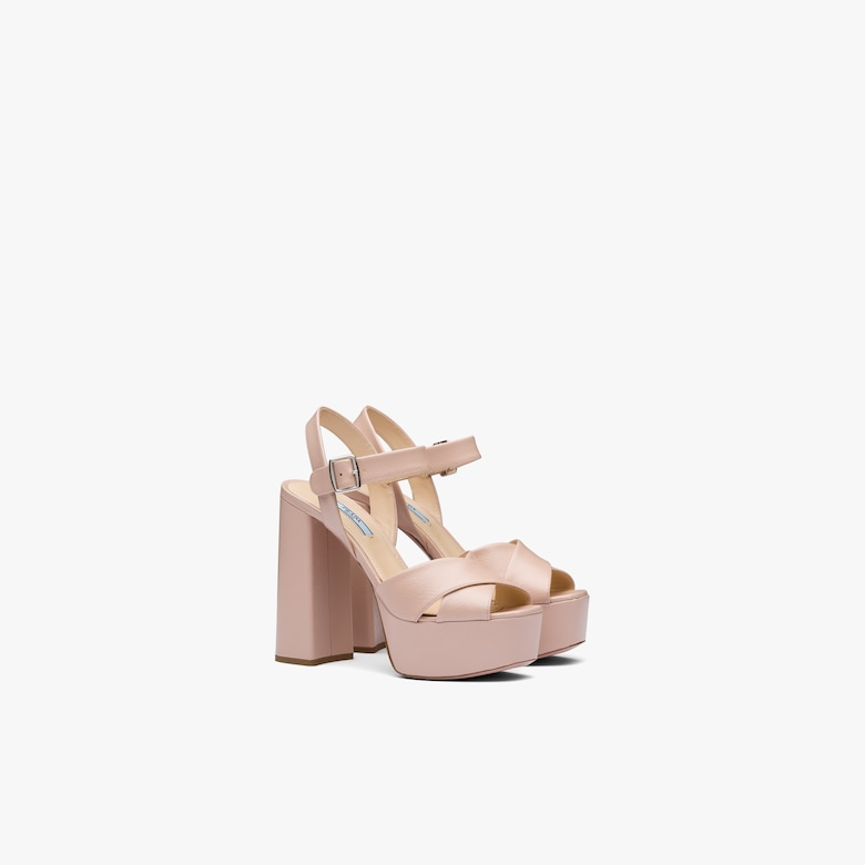 Prada Patent leather sandals with Saffiano print - Woman