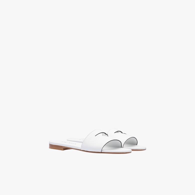 Prada Flat leather slides - Woman