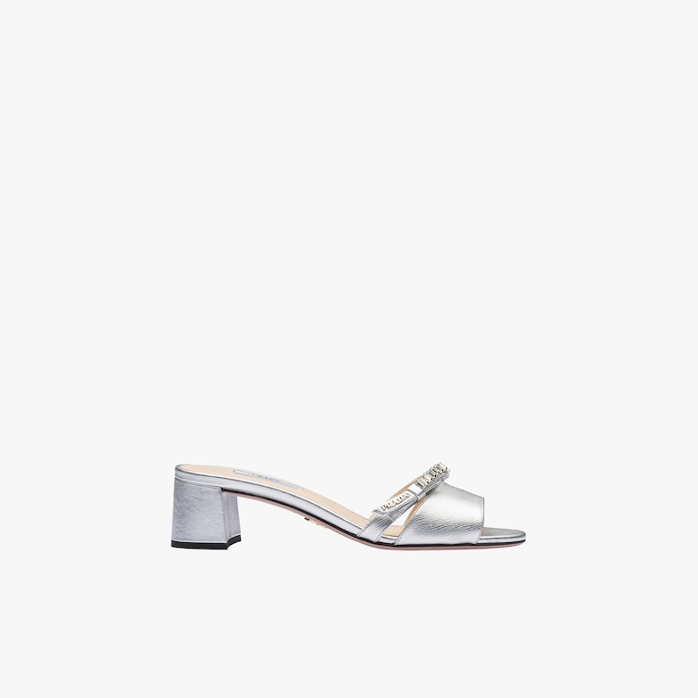 Saffiano leather sandals