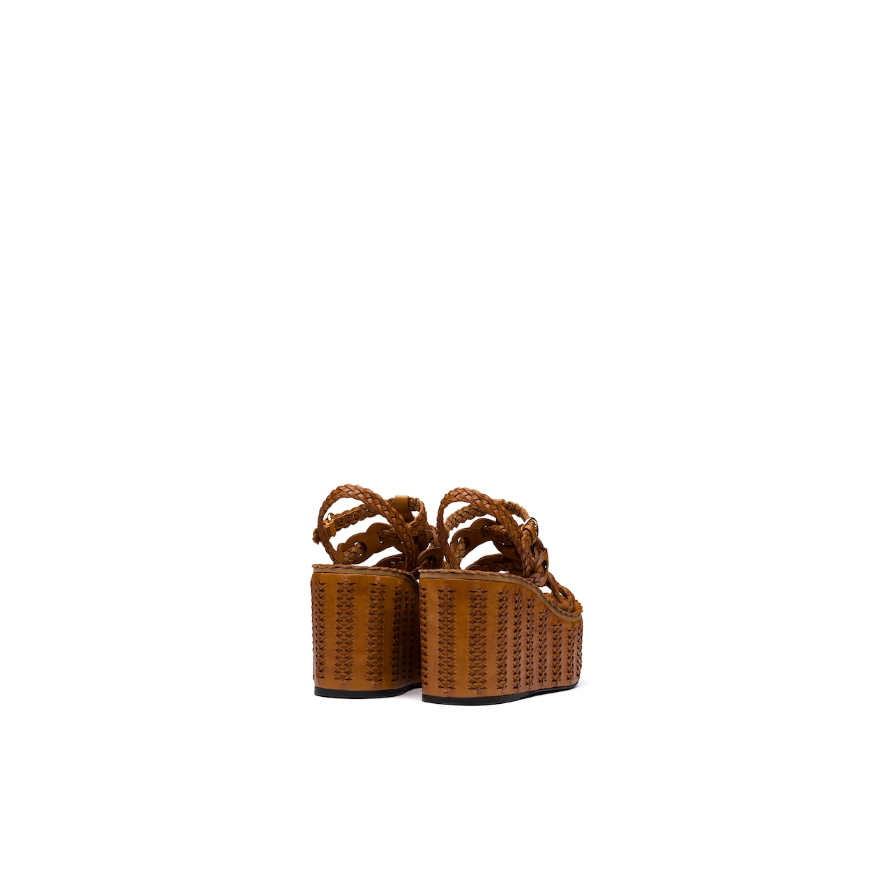 Prada Leather wedge sandals 5
