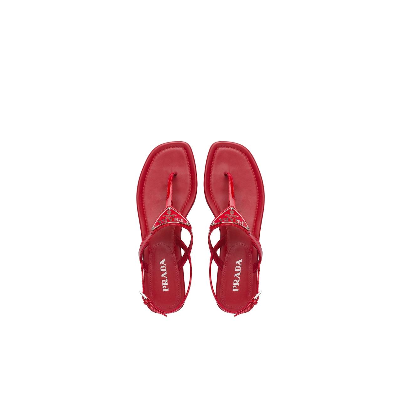 Prada Patent leather thong sandals 2