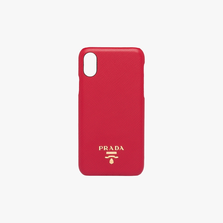 Prada Saffiano leather cover for iPhone X and XS - Woman
