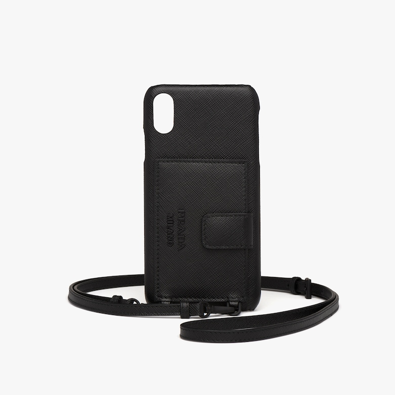 Prada iPhone XS MAX cover with shoulder strap - Woman