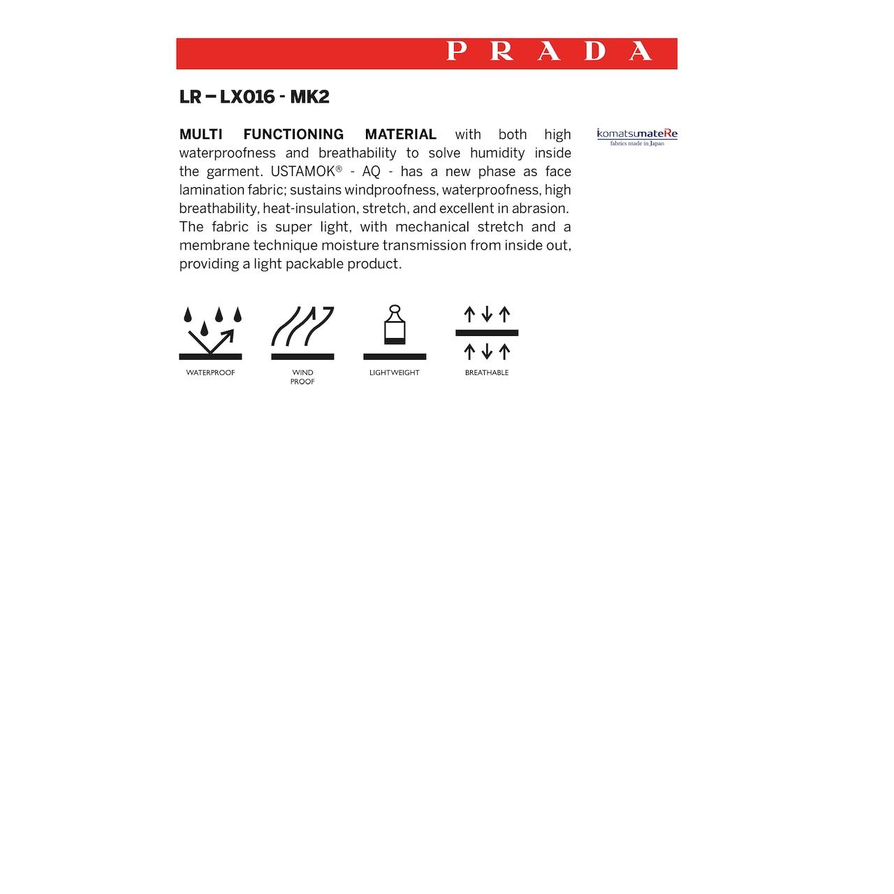 Prada LR-LX16-MK2 Light bonded nylon  shorts 6