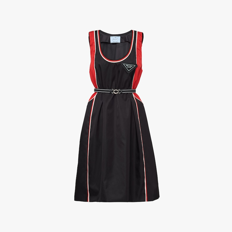 Prada Long Re-Nylon gabardine dress - Woman