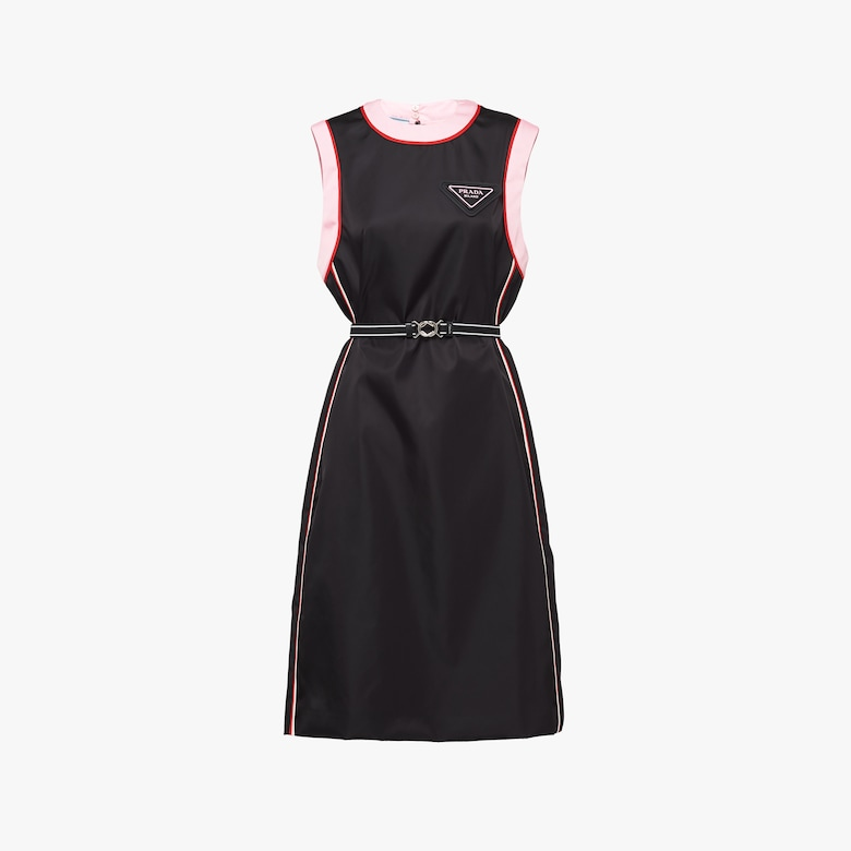 Prada Sleeveless Re-Nylon gabardine dress - Woman