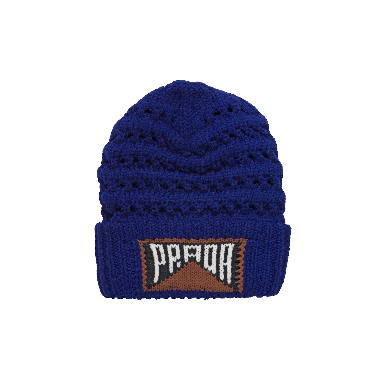 Wool beanie with logo