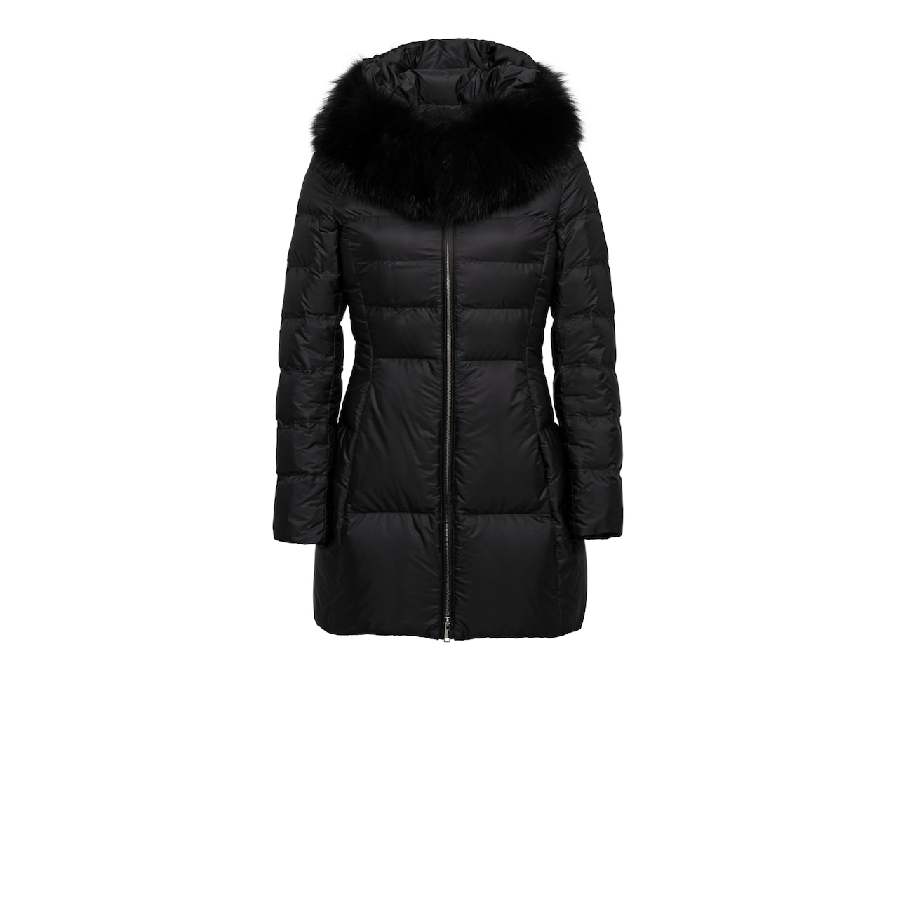 Prada Fur-Trimmed Nylon Down Jacket 1