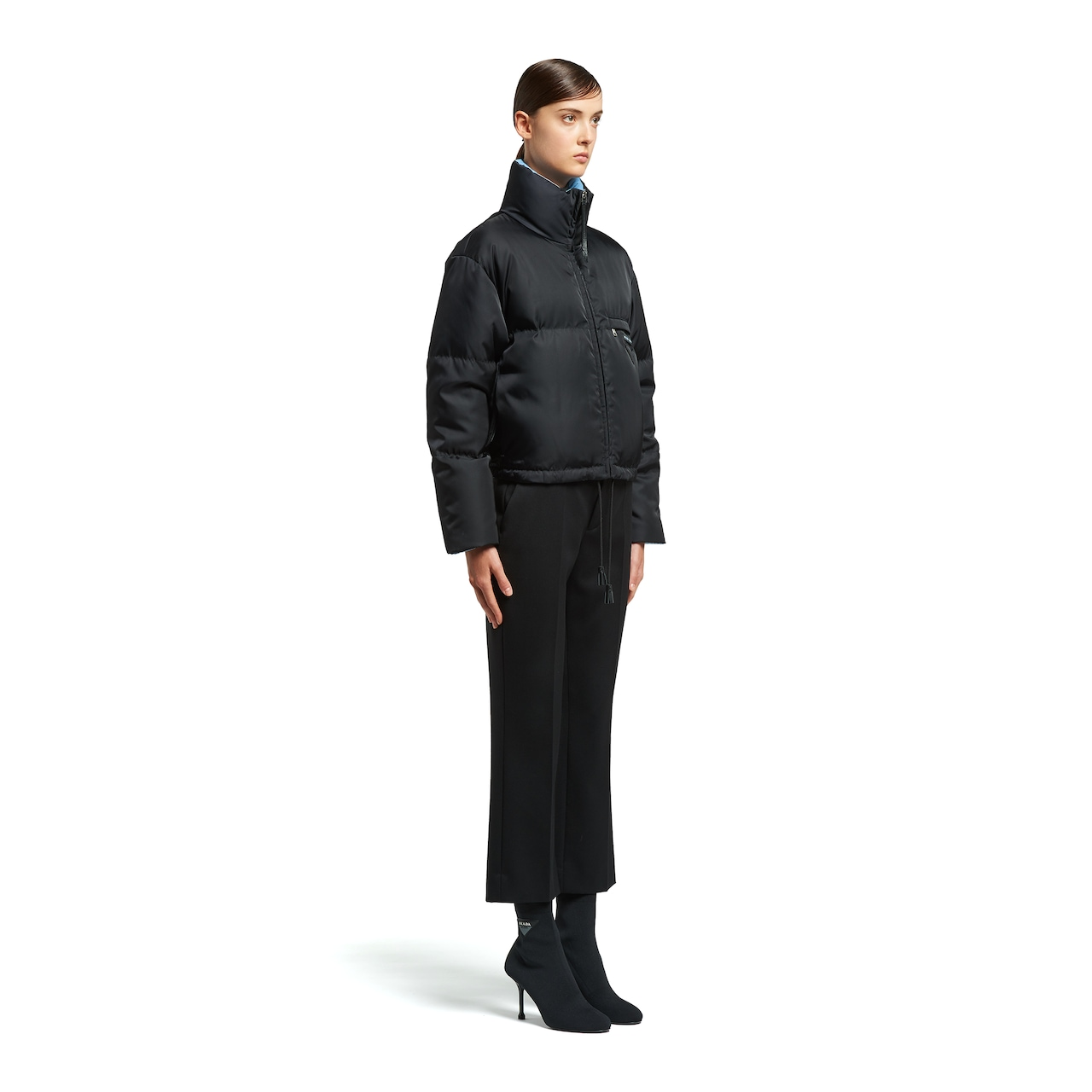 Prada Nylon gabardine puffer jacket 3