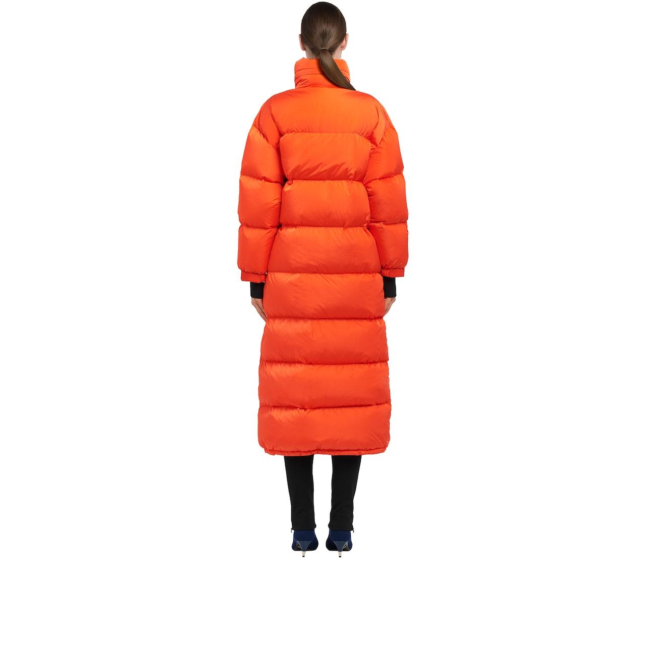 Feather Nylon puffer coat