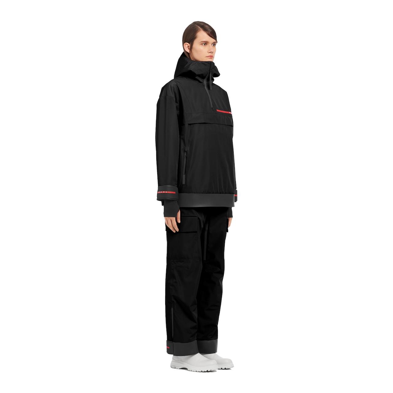 Technical fabric snowboard jacket