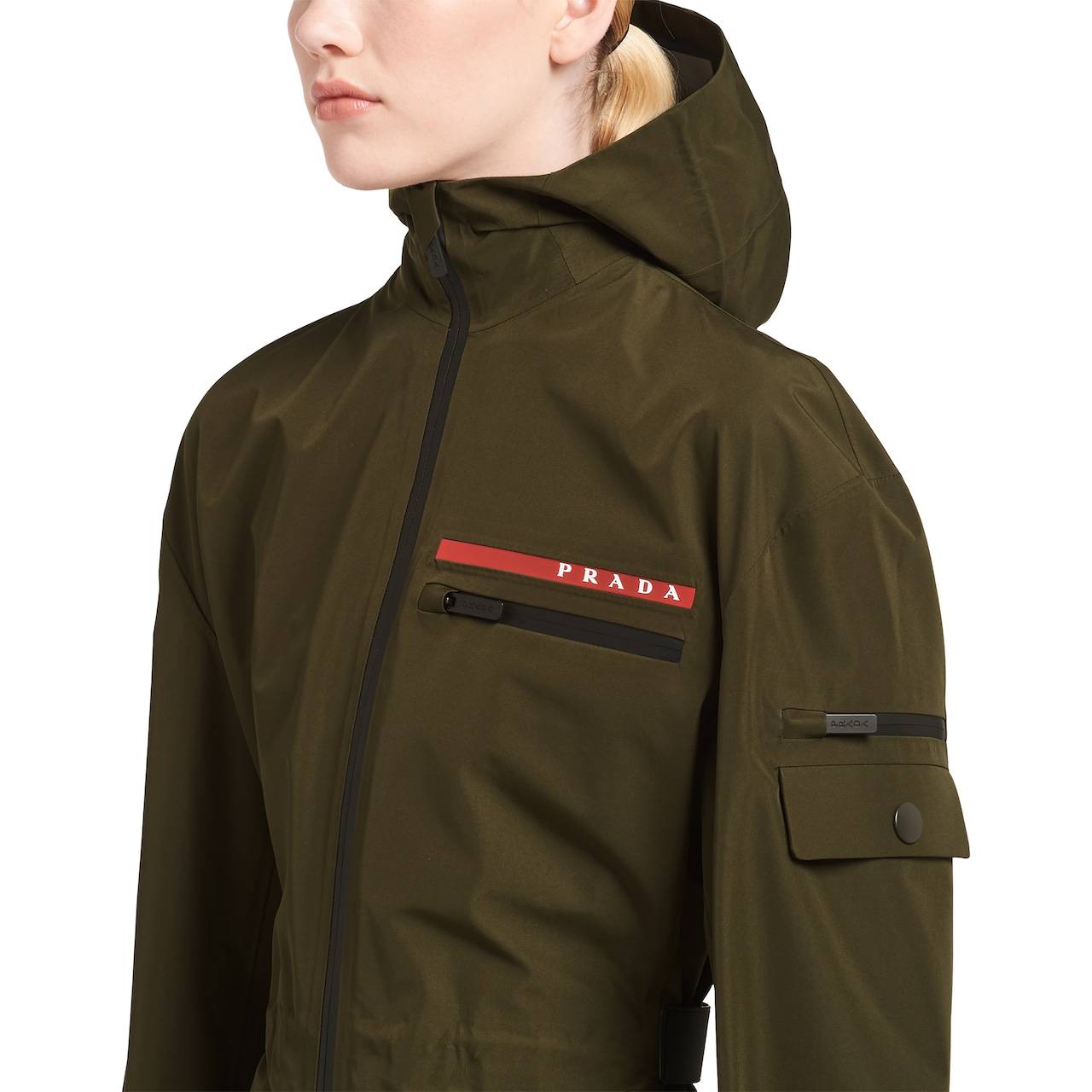Prada LR-MX18 technical GORE-TEX PRO nylon fabric caban jacket 5