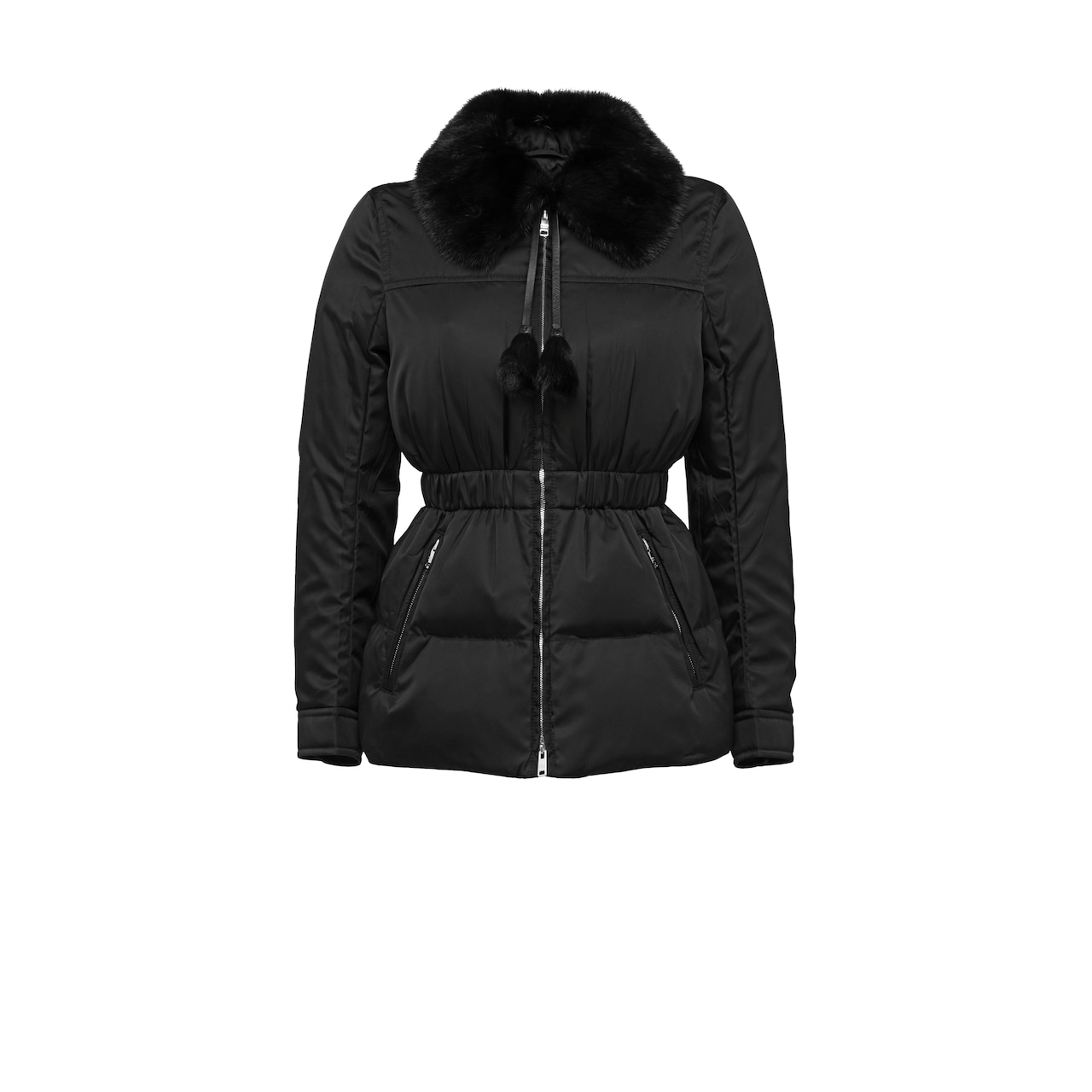 Down Jacket With Mink Fur Collar