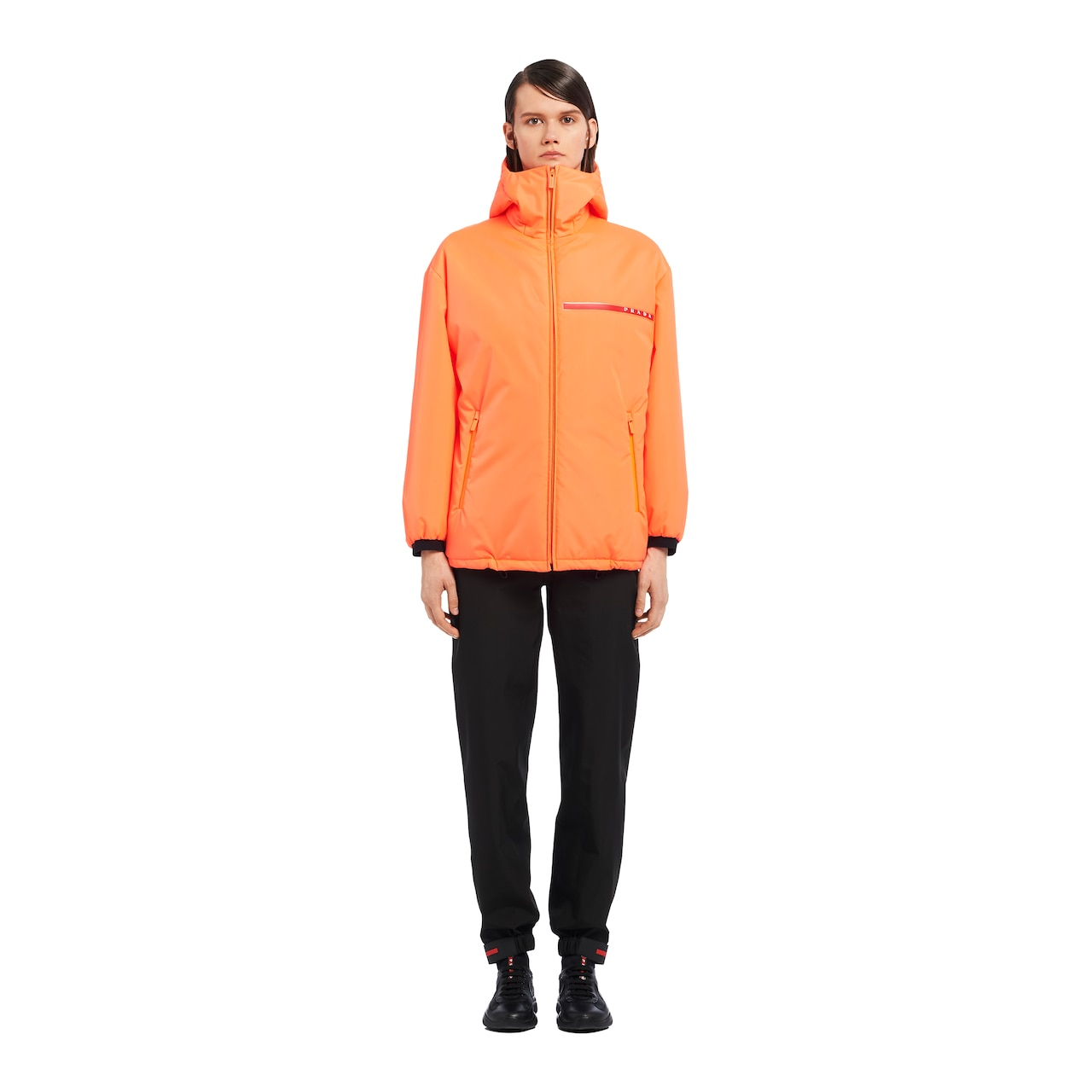 Padded technical fabric jacket