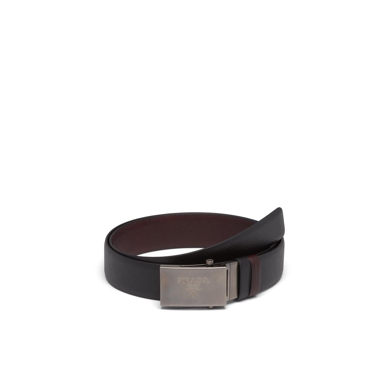 Prada Saffiano Leather Reversible Belt 1