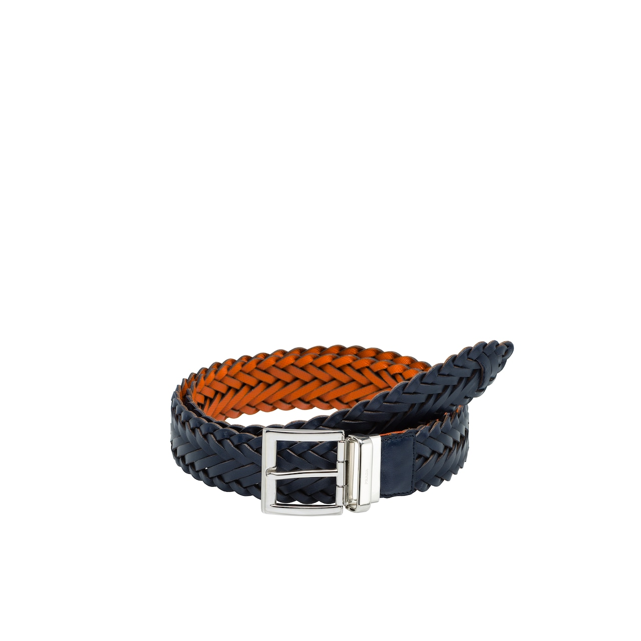 Reversible Saffiano leather and leather belt