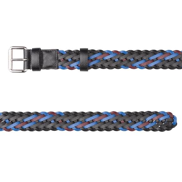 Braided Saffiano leather belt