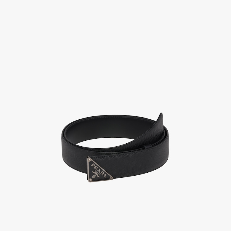 Prada Saffiano leather belt - Man