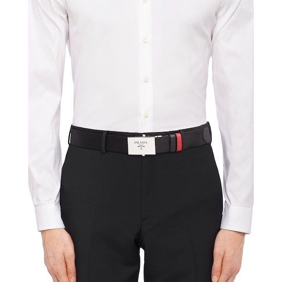 Prada Woven belt with buckle 4