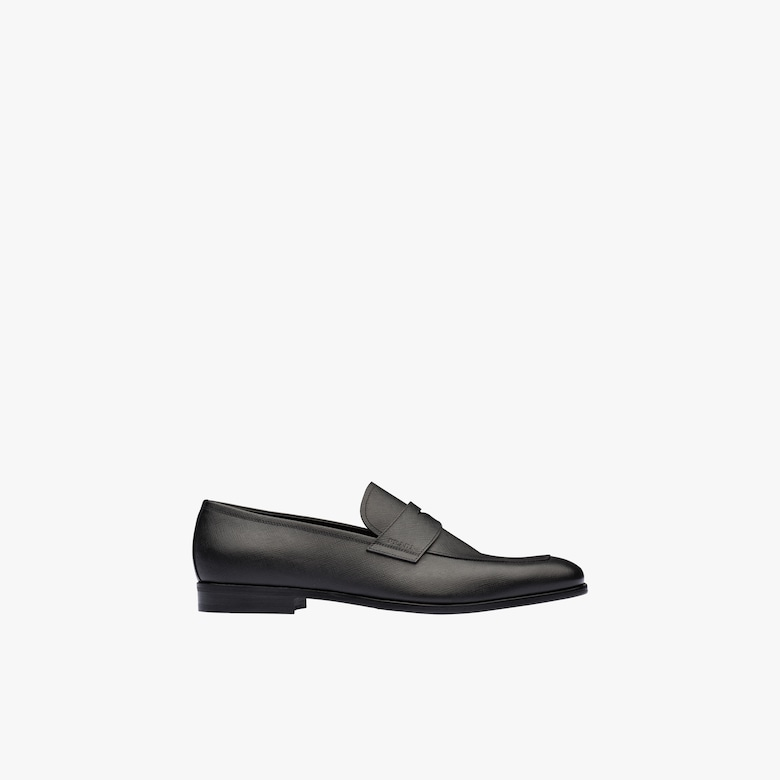 Saffiano leather loafers