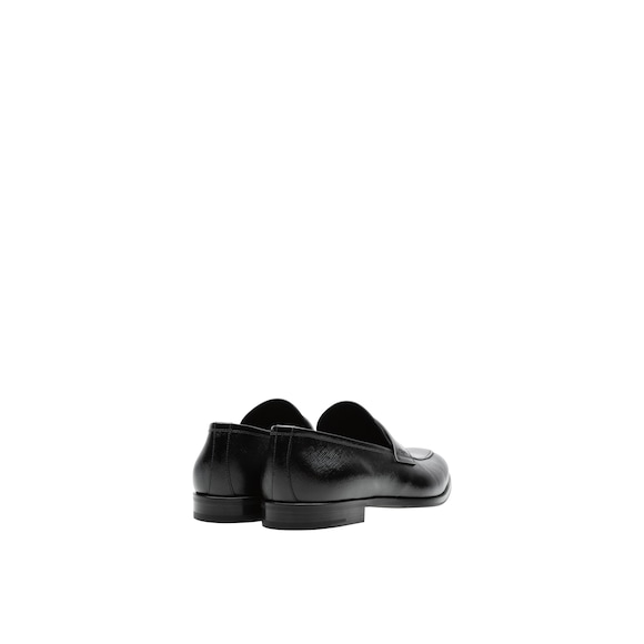 Prada Saffiano and brushed leather moccasins 4