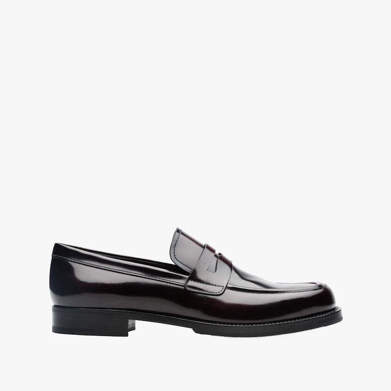 哑色皮革乐福鞋