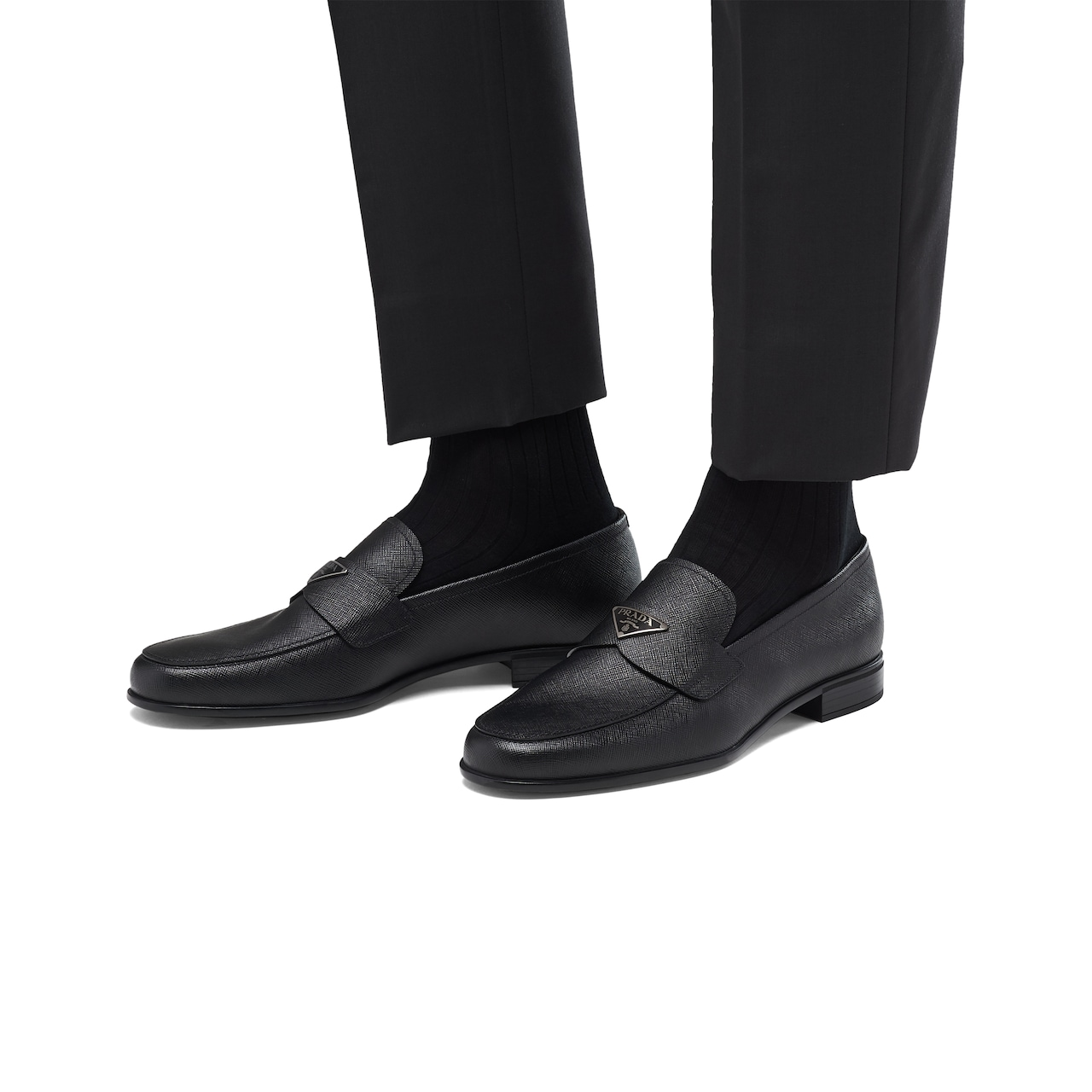 Prada Saffiano leather loafers 3