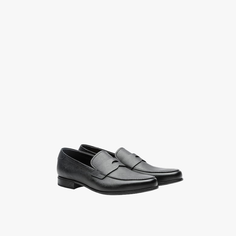Prada Saffiano leather loafers - Man