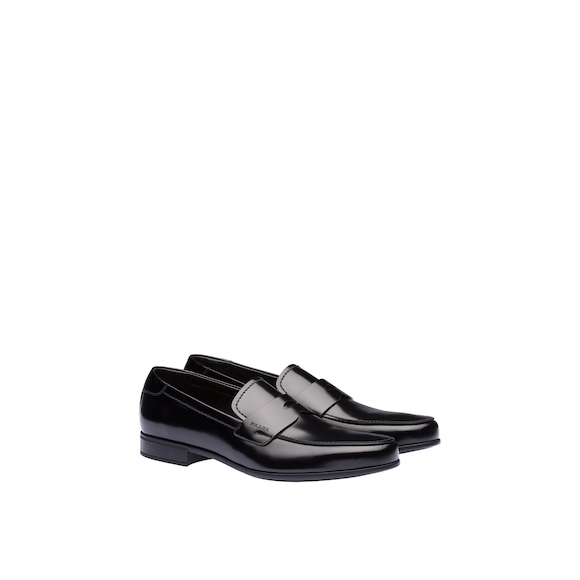 Prada Brushed leather loafers 3