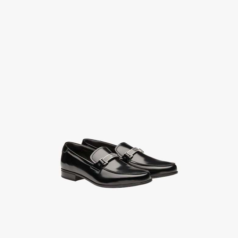 Prada Brushed leather loafers - Man