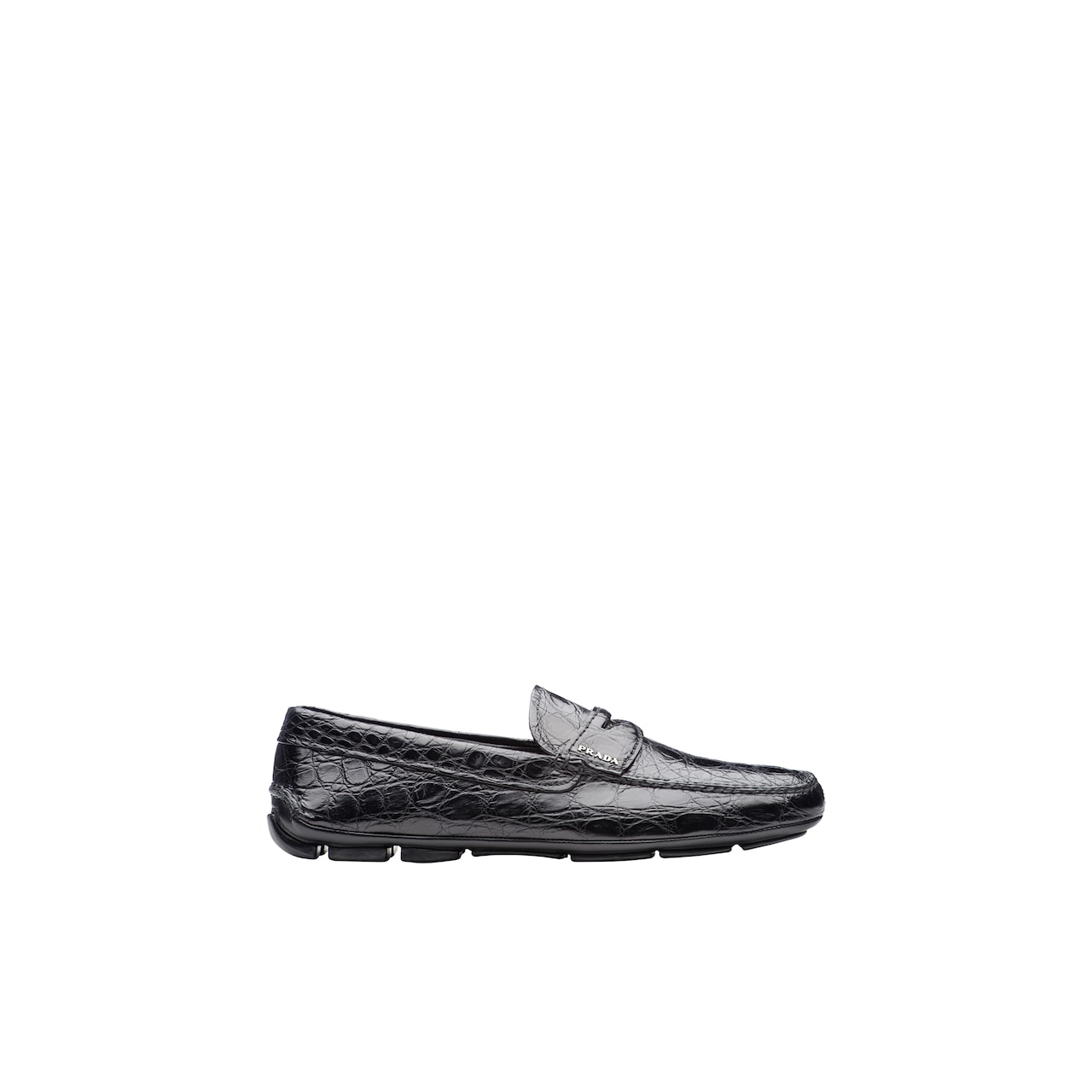 Crocodile Leather Driving Shoes