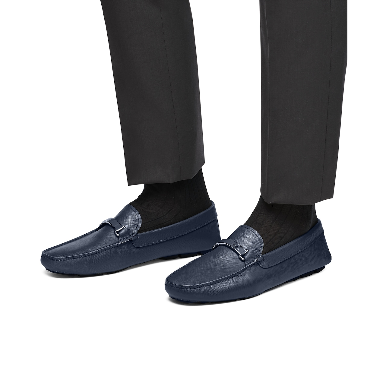 Saffiano leather loafers 3