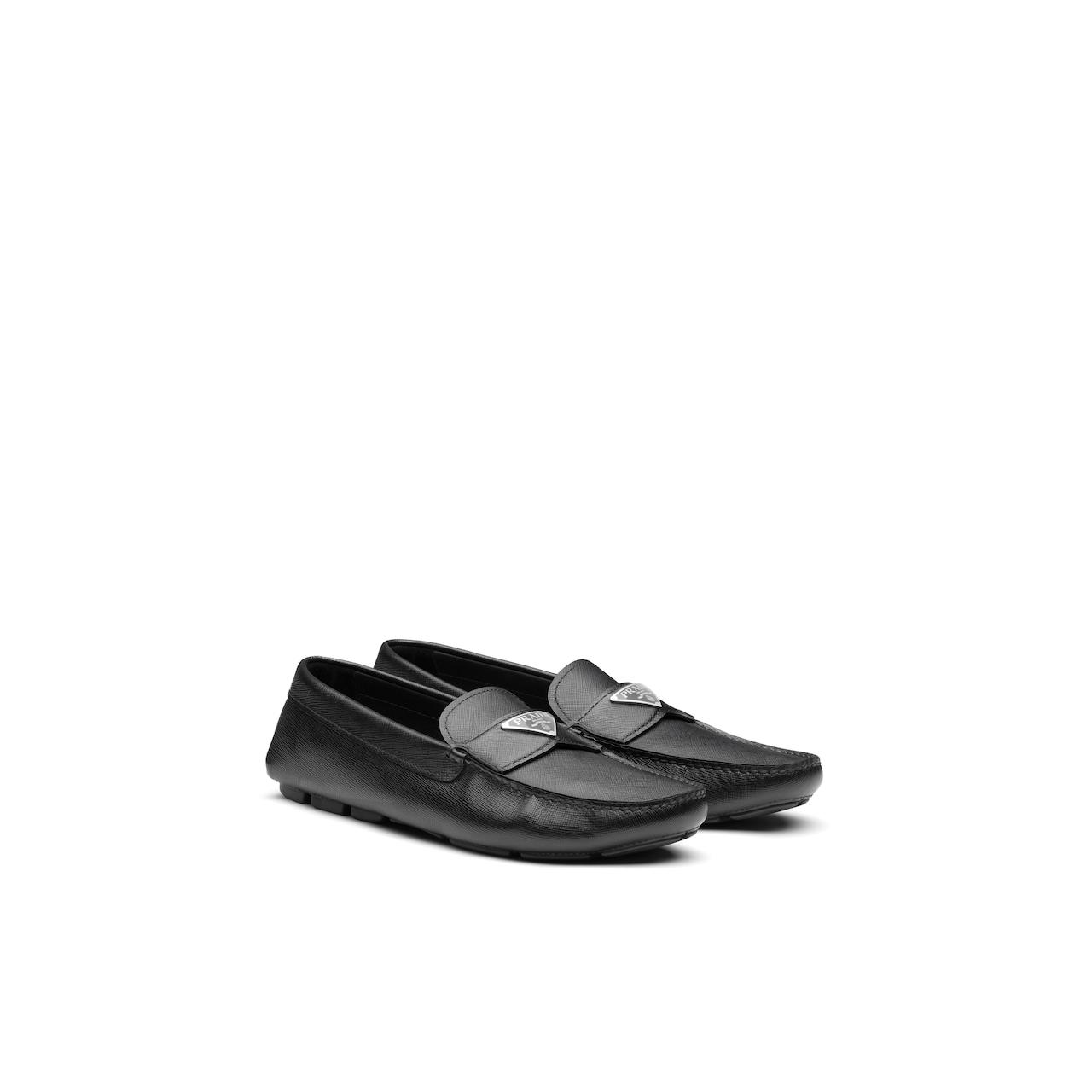 Prada Saffiano 皮革乐福鞋 1