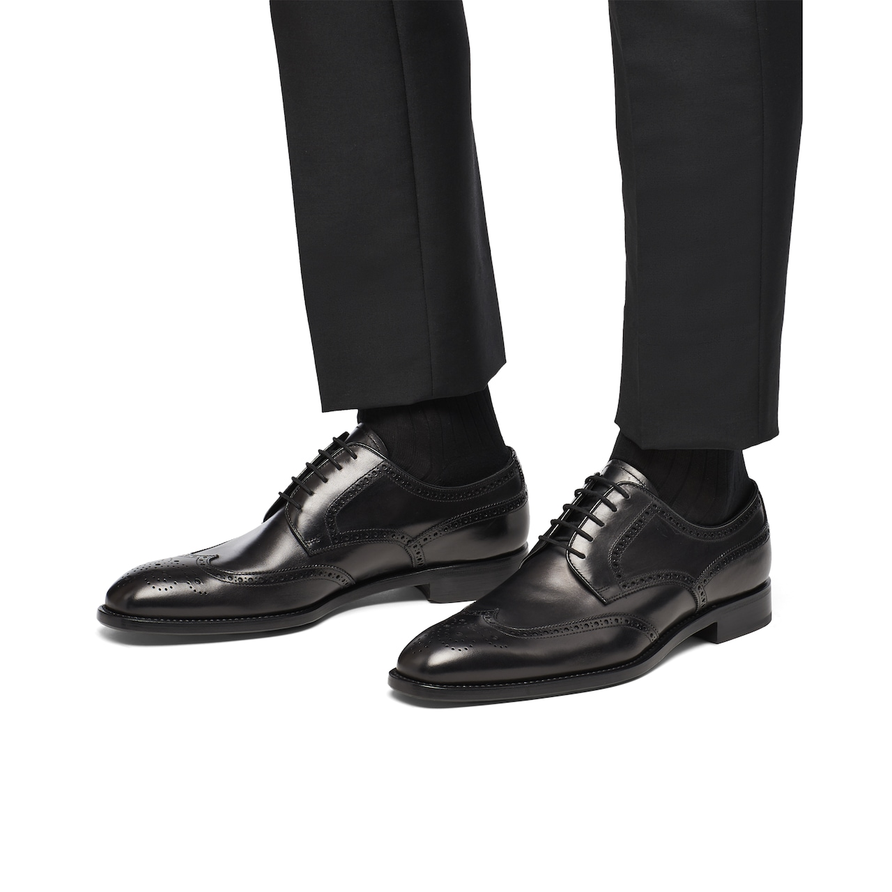 Prada Leather derby shoes 3