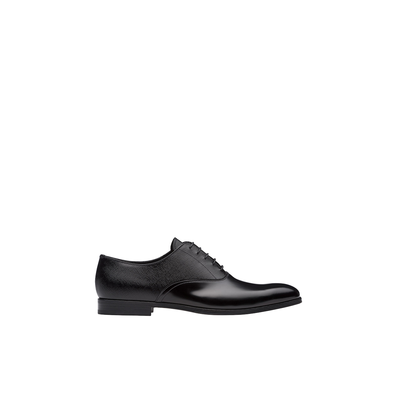 Saffiano and brushed leather Oxford shoes