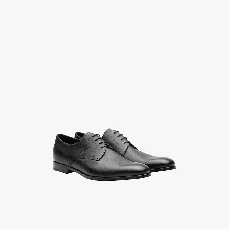 Prada Saffiano leather derby shoes - Man