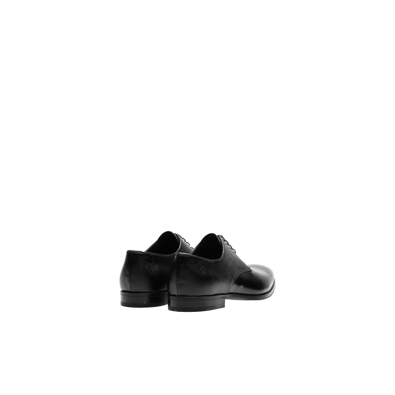 Prada Saffiano and brushed leather Derby shoes 4