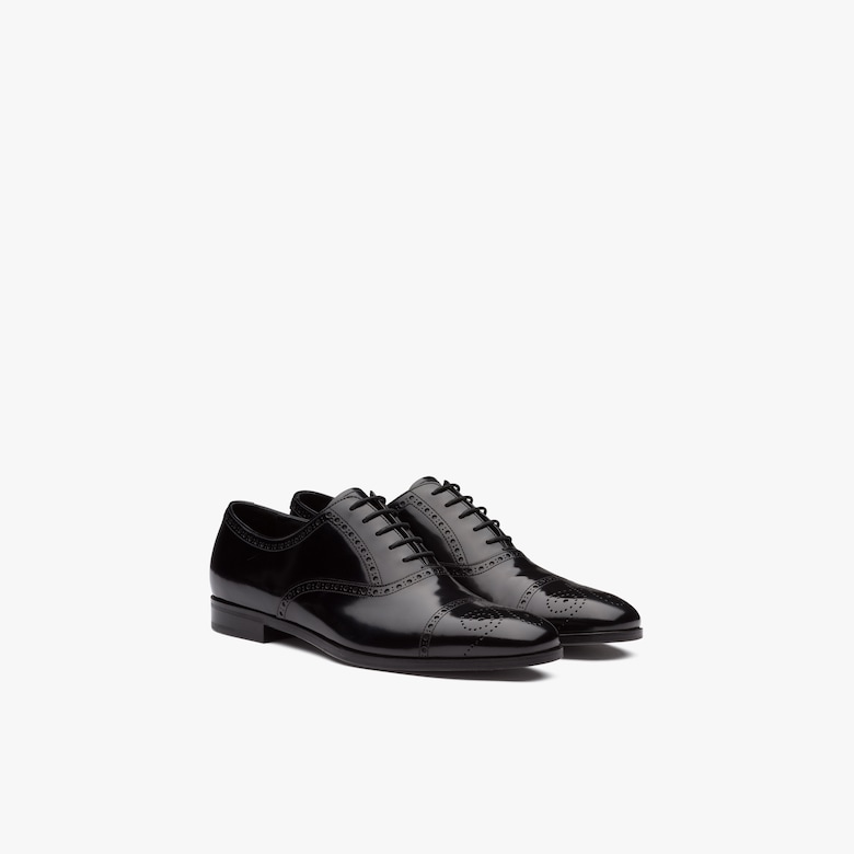 Prada Brushed fumé leather Oxford shoes - Man