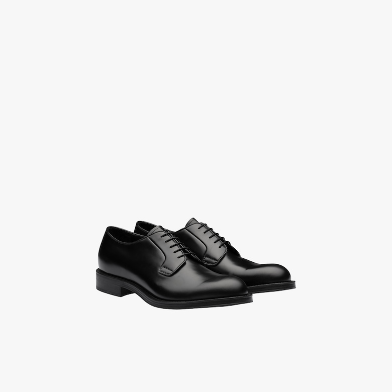 Bright Calf leather derby shoes