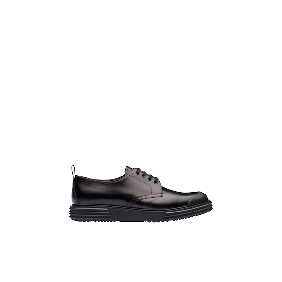 Prada Opaque leather derby shoes 3