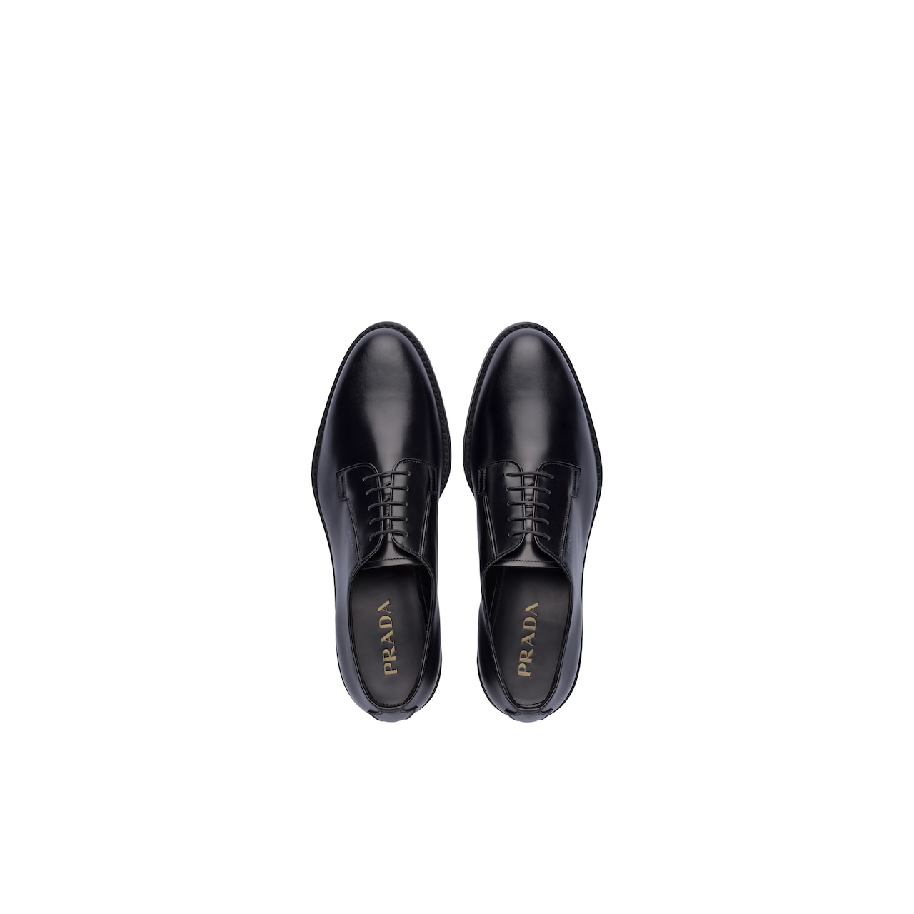 Prada Brushed leather derby shoes 5
