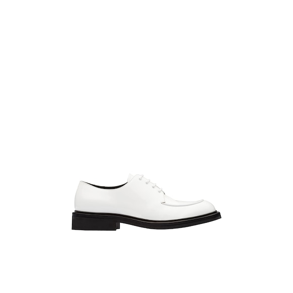 Patent leather derby shoes