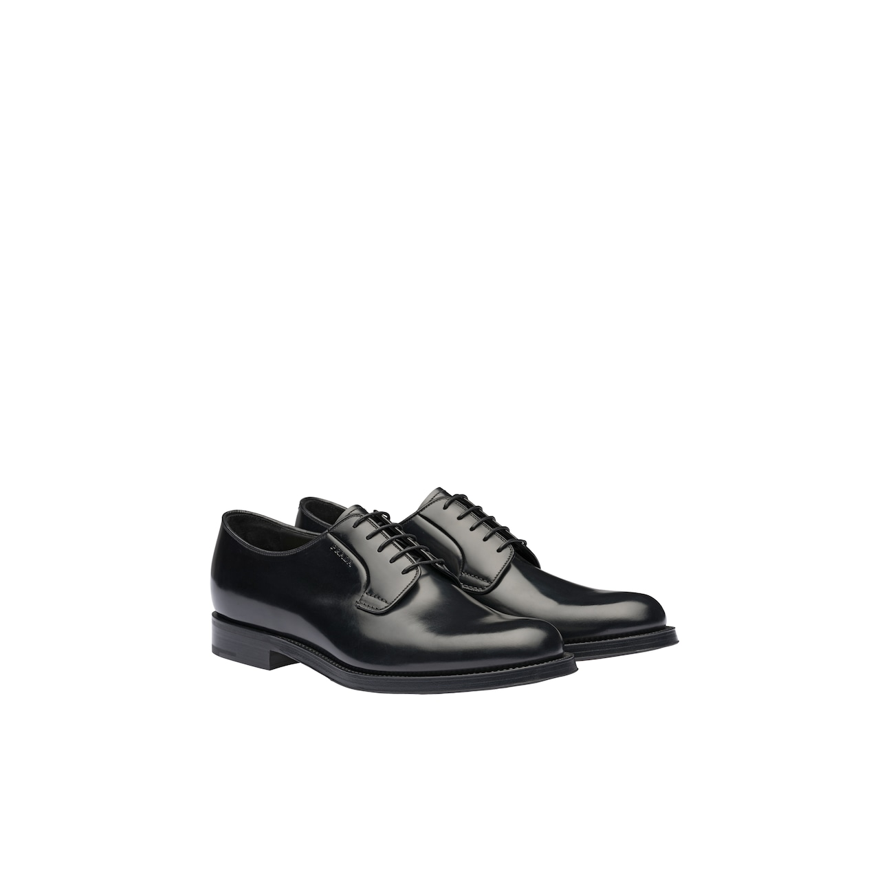 Prada Brushed leather derby shoes 1