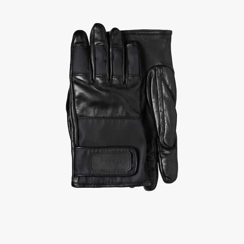 Nylon and Leather Gloves