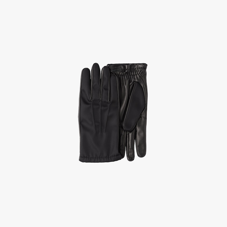 Fabric and leather gloves
